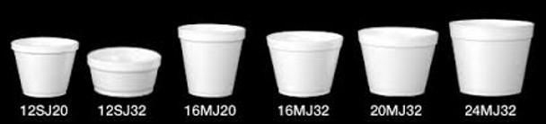 Dart - 3.5J6 - 3.5 Oz Foam Soup Container, White - 1000/Case