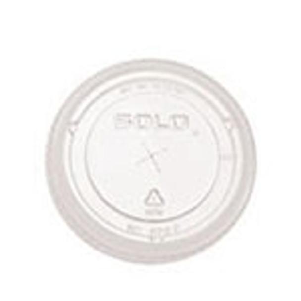 Dart Solo - 610TS - X-Slot Flat Clear Lid for TP9D - 1000/Case