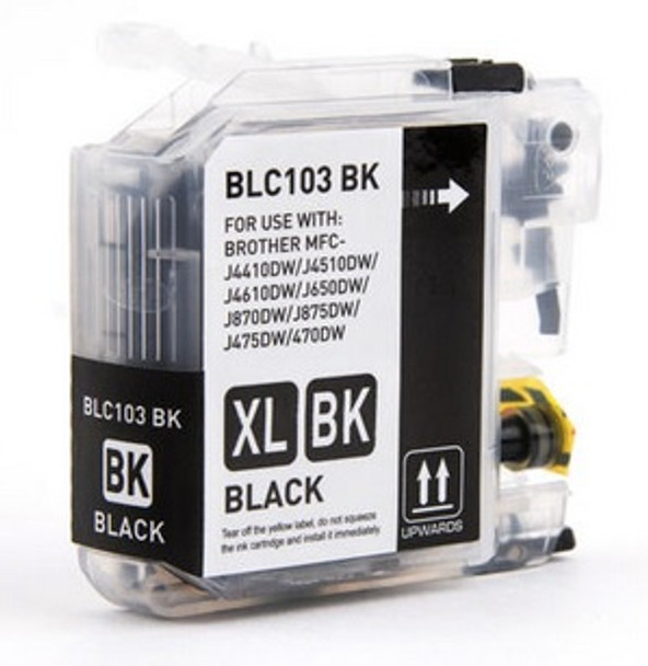 Brother LC103BK - Compatible Black Ink Cartridge High Yield - New