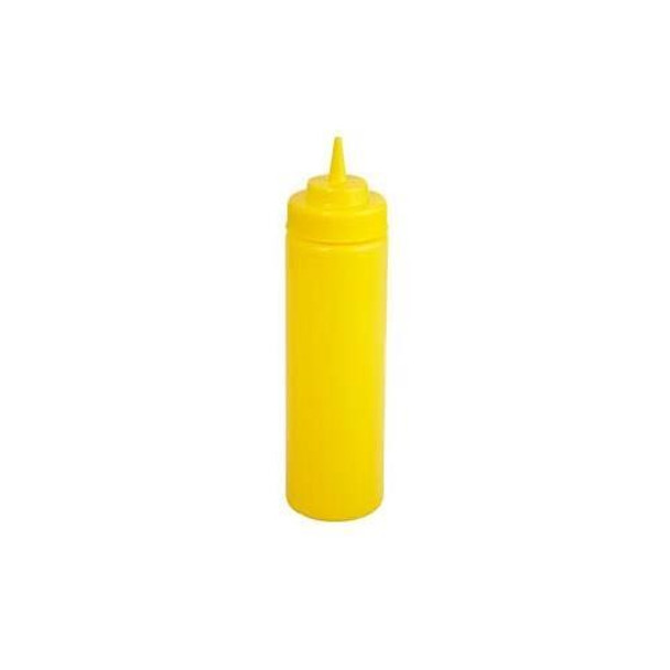 Winco - PSW-24Y - 24 Oz Wide Mouth Yellow Squeeze Bottle - 6/Pack