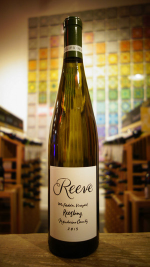 Reeve Wines, Potter Valley Riesling McFadden 2015