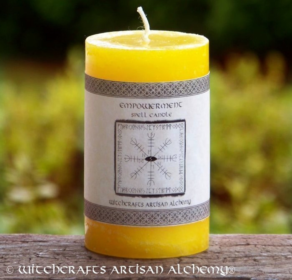 EMPOWERMENT Signature Spell Candle by Witchcrafts Artisan Alchemy
