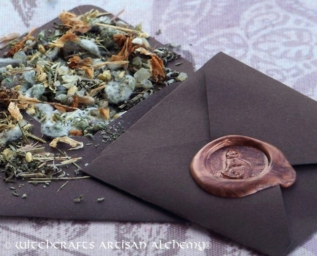 """FIND MY FAMILIAR """"Spirit of Magic"""" Herb Loaded Envelope Spell Packet"""