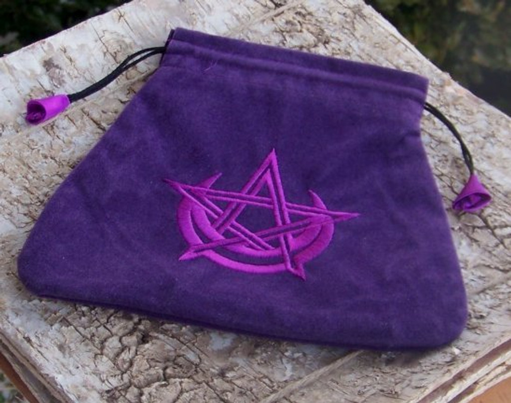 PURPLE PENTAGRAM MOON Treasure Pouch