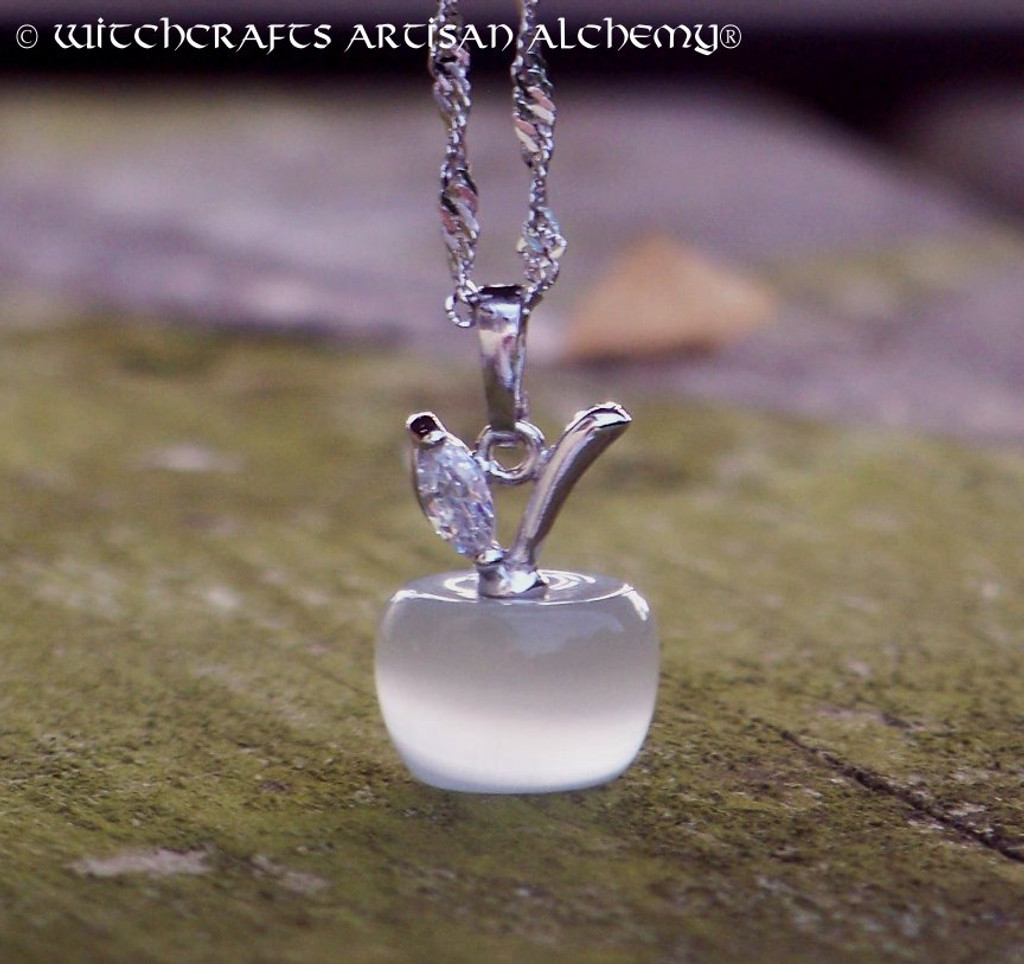 WHITE GODDESS Witch's Apple Pendant Necklace