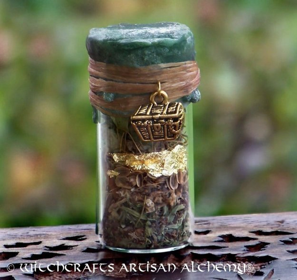 CHEST OF GOLD Charmed Witch Bottle