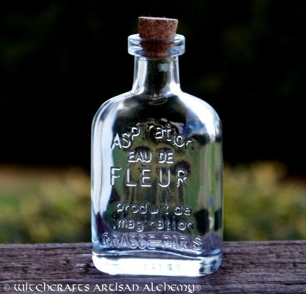 Crystal Clear Glass Corked Apothecary Style Magic Potion Bottle 45ml