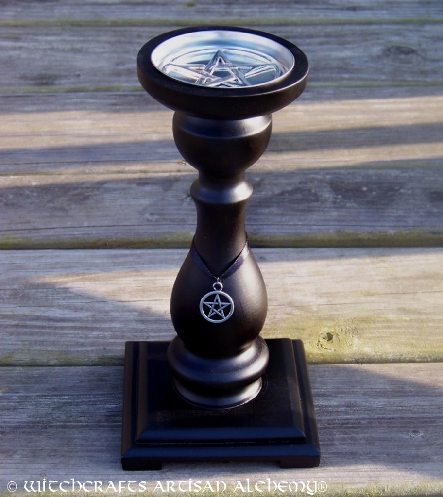 BLACK SABBATH Witch's Double Pentacle Pillar Candle Holder