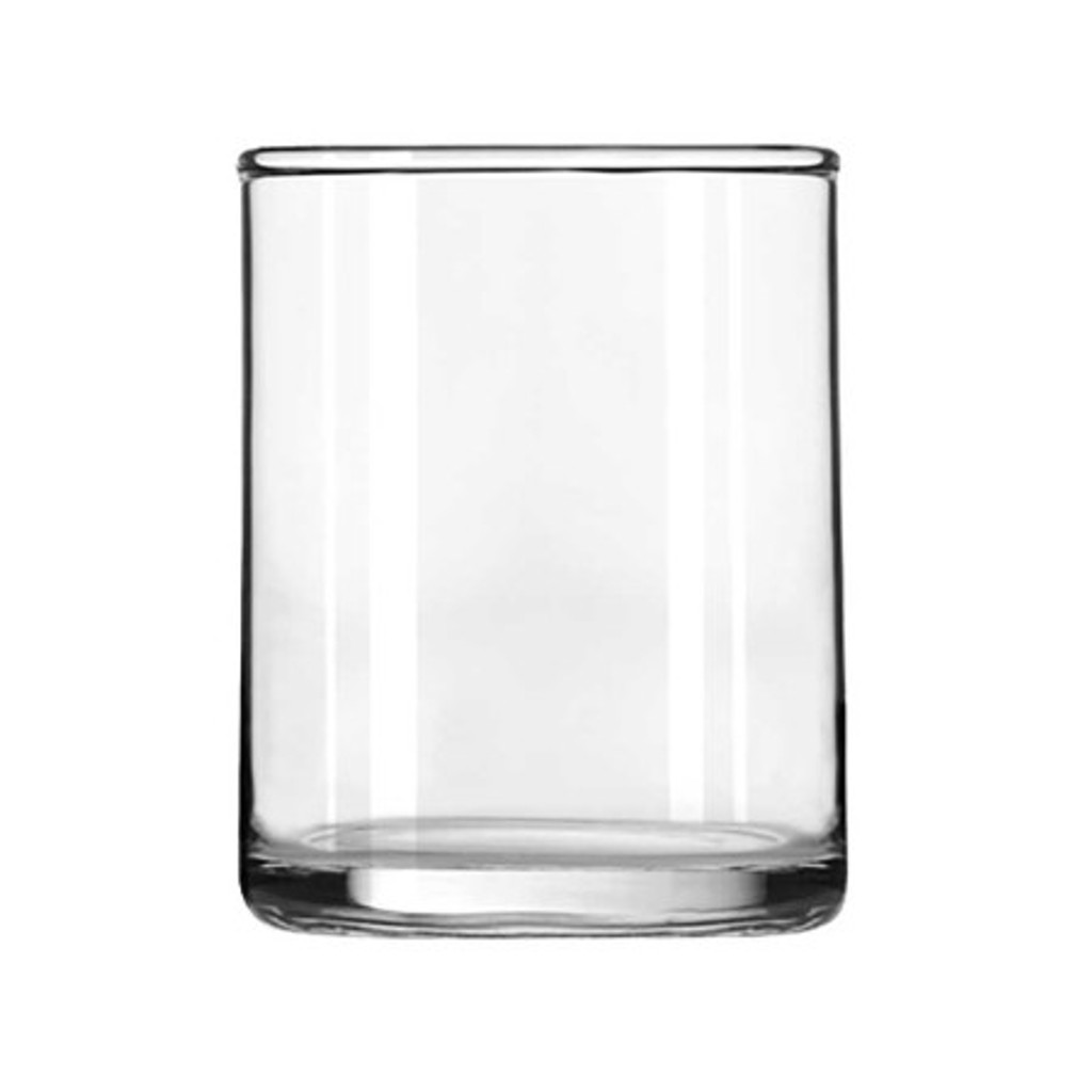 Clear Glass Straight Pillar Votive Cup Holder