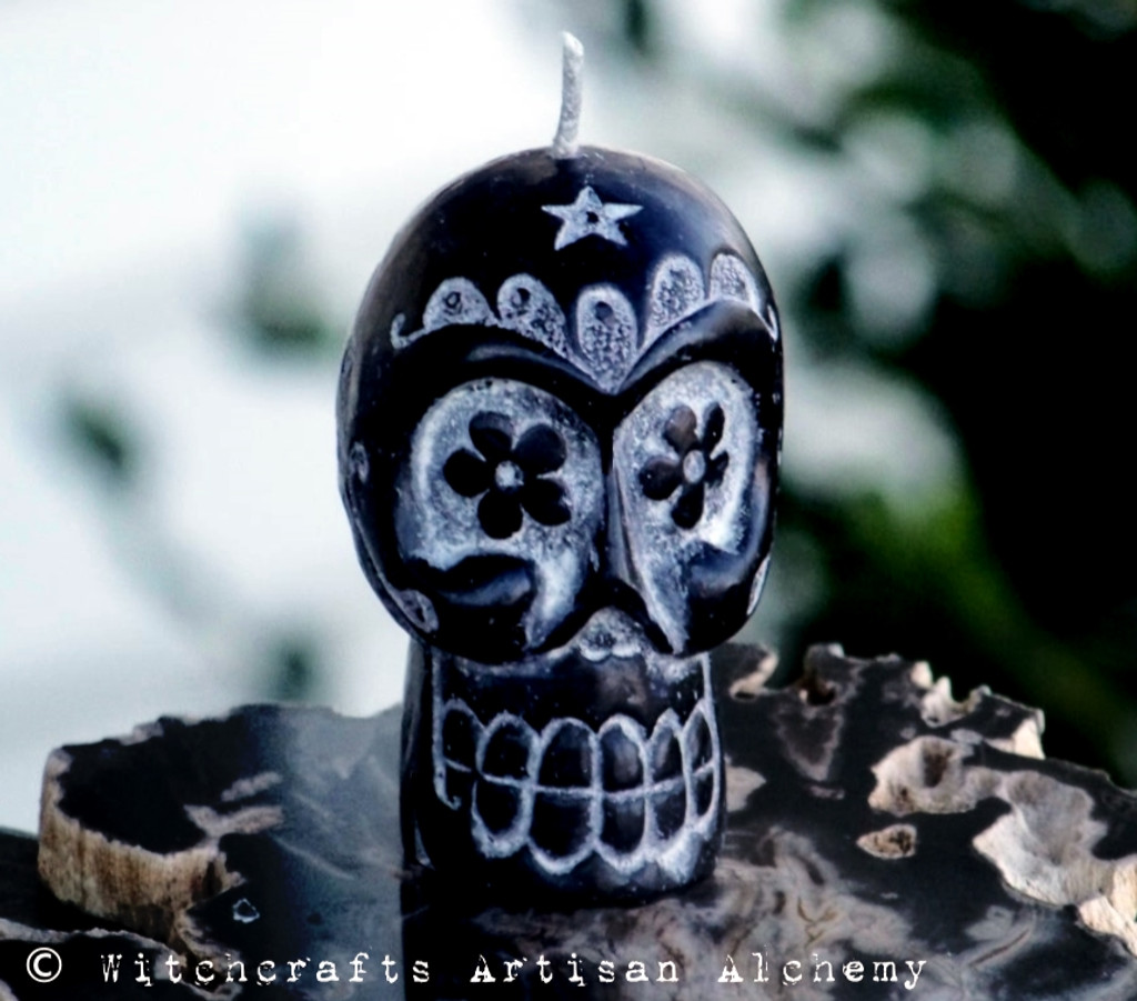 Sugar Skull Day Of The Dead Candle