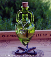 GREENWITCH Pentacle Lime Green Amphora w/ Stand