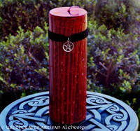TRUE BLOOD Sacred Witch Blood Gothic Red Pentacle Pillar Candle