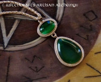 Wendy Witches of the East End Green Rhinestone Pendant Necklace