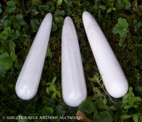 """SCOLECITE """"Lightworker's Stone"""" Gemstone Wand Point - Large"""