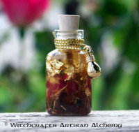 "ABUNDANTIA 24K Gold Leaf 14K Gold Plated Money Bag Charmed  ""Artisan Alchemist"" Ritual Oil"