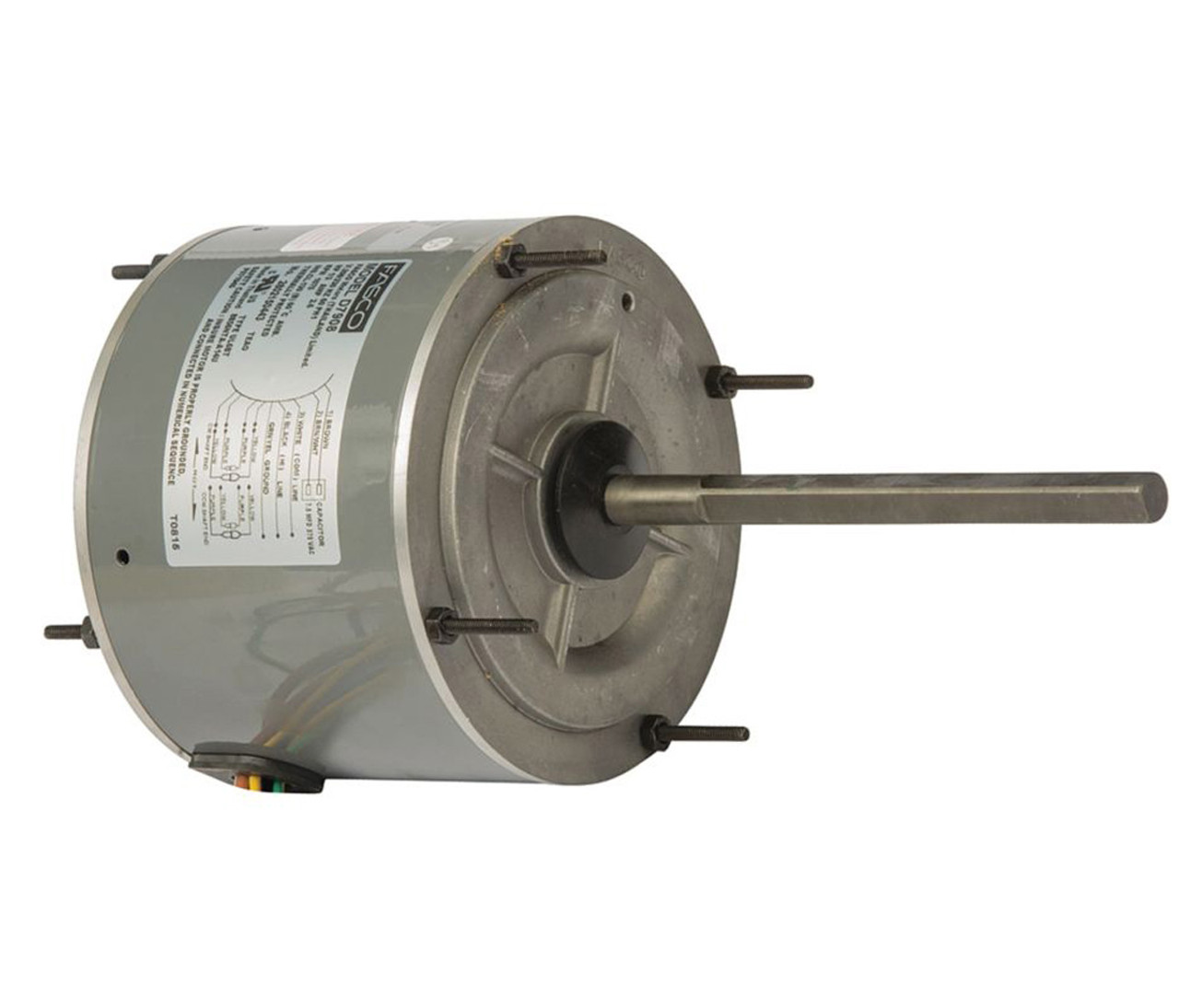 D7908 Wiring Diagram Schematic Name 1 Hp Electric Motor 3 1075 Rpm 5 6 Diameter 208 230 Volts Fasco Smart Car Diagrams