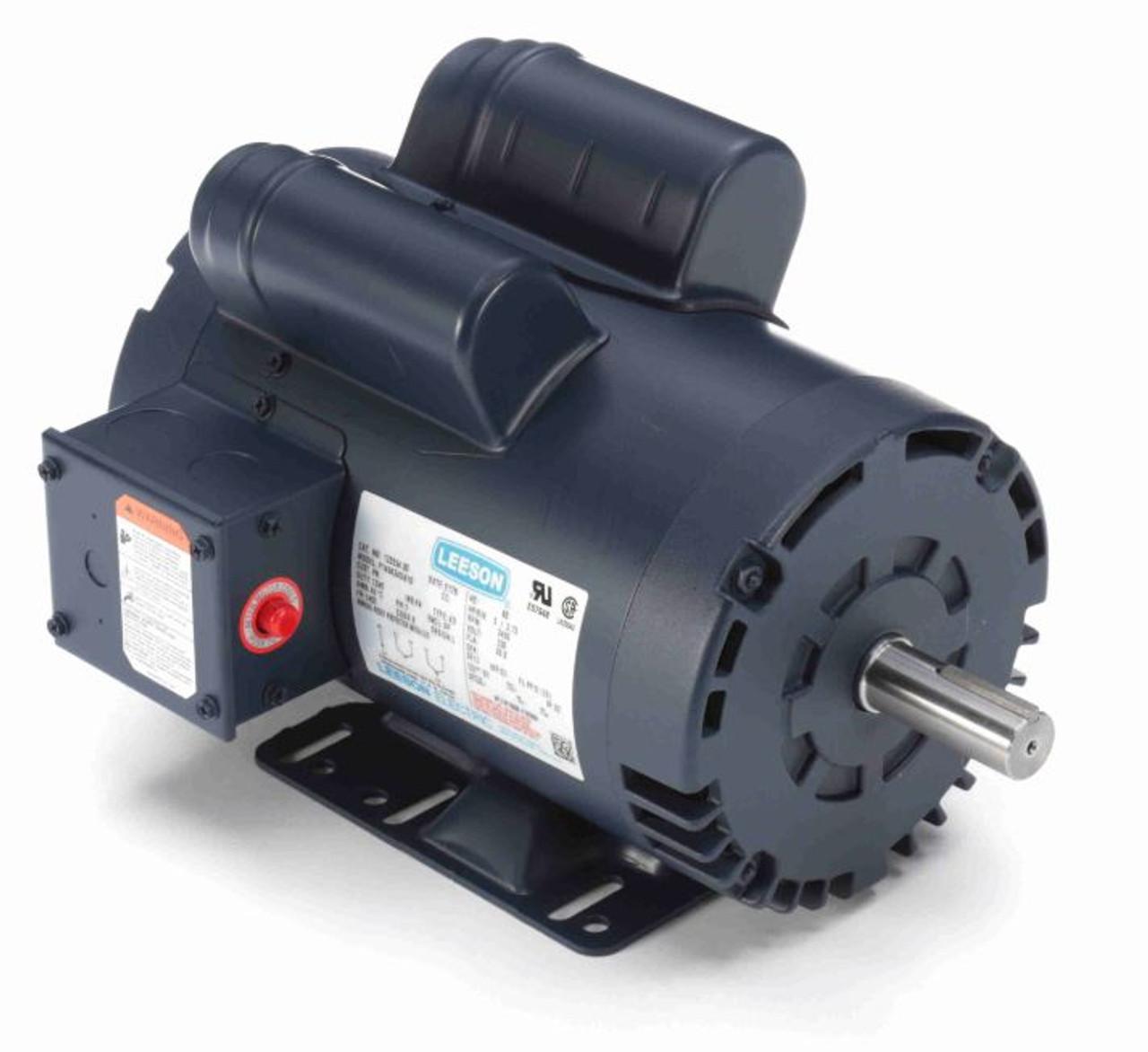 5 hp 3450 rpm 145t 230v air compressor motor leeson 120554Leeson 5 Hp Compressor Motor Wiring #16