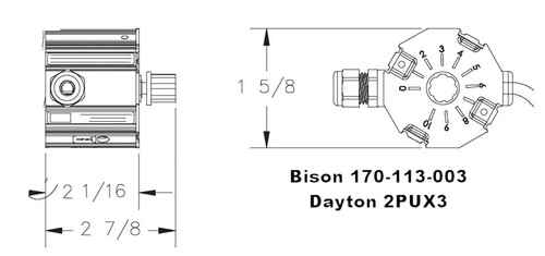 Bison Direct Mount Gear Motor Speed Controller 1/35-1/6HP