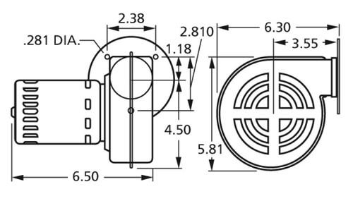 Centrifugal Blower (7021-4814, 7021-6146, 7121-6146) 115V