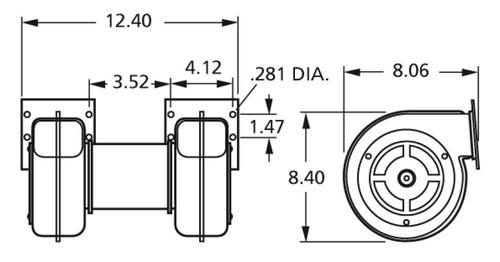 Centrifugal Blower 115 Volts Fasco # 50756-D500 (Dayton