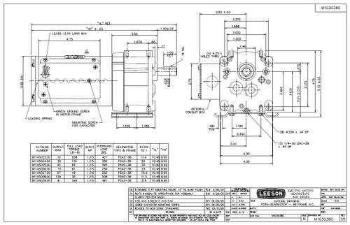 M Dim on Leeson 115 230 Motor Wiring
