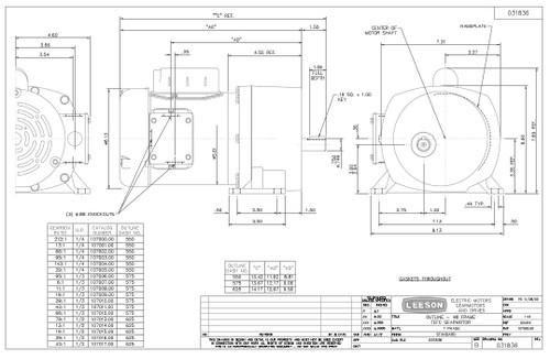 leeson parallel shaft 1 3 hp 157 rpm 115 230 electric. Black Bedroom Furniture Sets. Home Design Ideas