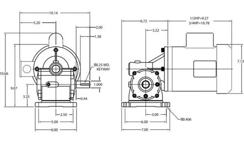 dayton gear motor 3  4 hp 56 rpm 115  208