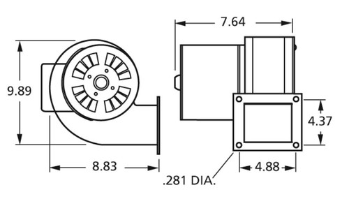 Centrifugal Blower (4C447, 1TDR3, PU-4C447) 115 Volts