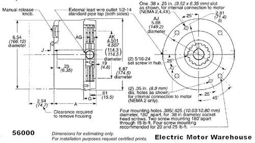 Stearns Brake 1-056-044-00-BPF, NEMA 4X, 115/208-230V