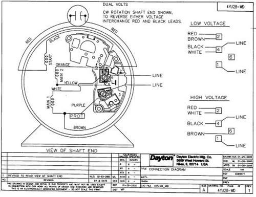 1/2 HP Direct Drive Blower Motor 1725 RPM 115/230V Dayton