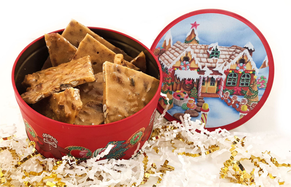Brittle in Christmas Tin