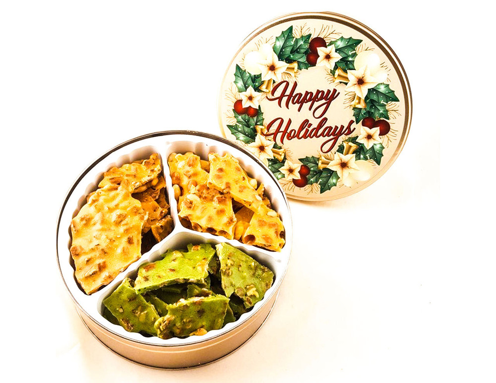 Holiday Brittle Gift Tin 1.5lbs