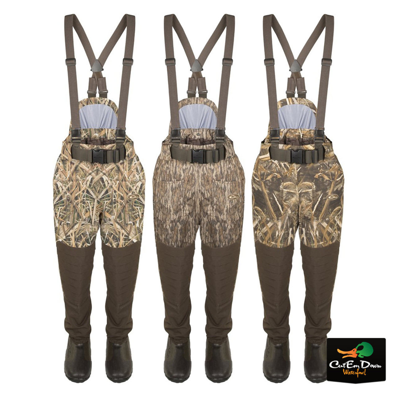 808001188522a Details about DRAKE WATERFOWL GUARDIAN ELITE INSULATED BREATHABLE CAMO  WAIST HIGH WADERS