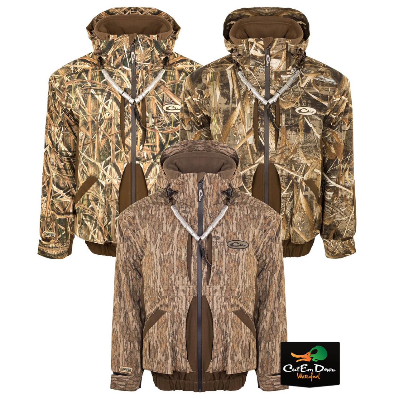 Details about DRAKE WATERFOWL SYSTEMS GUARDIAN FLEX FULL ZIP JACKET CAMO INSULATED COAT