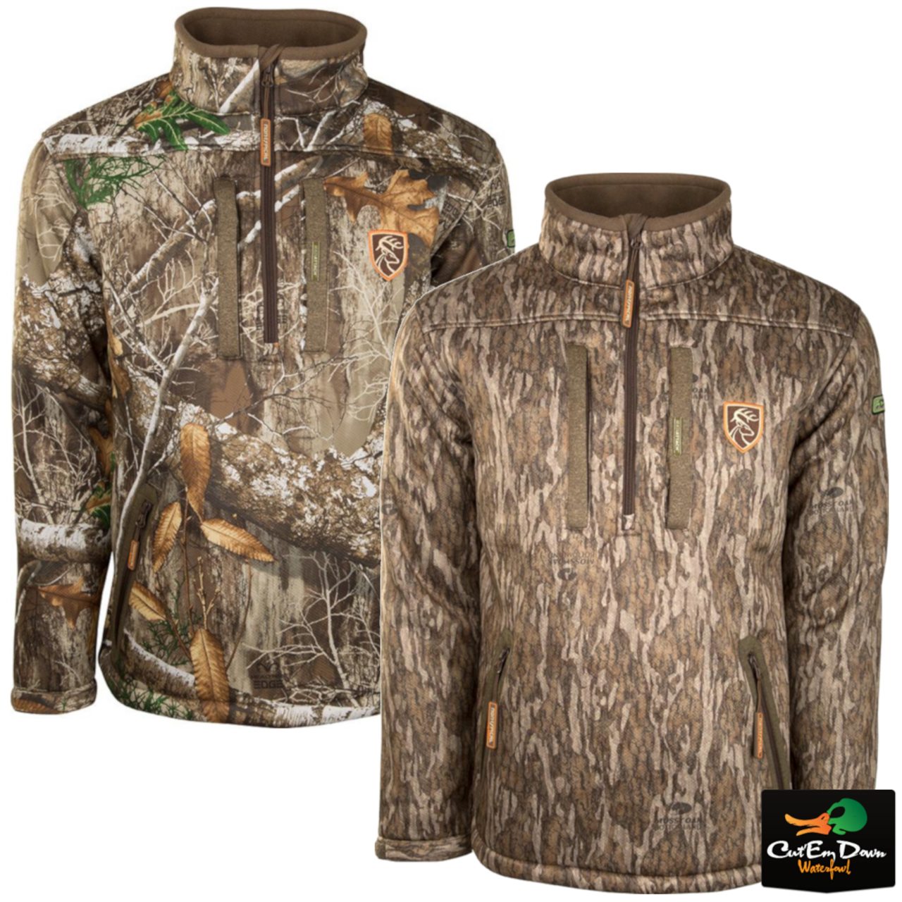 Details about DRAKE NON-TYPICAL SILENCER QUARTER 1/4 ZIP JACKET CAMO COAT  WITH AGION ACTIVE XL