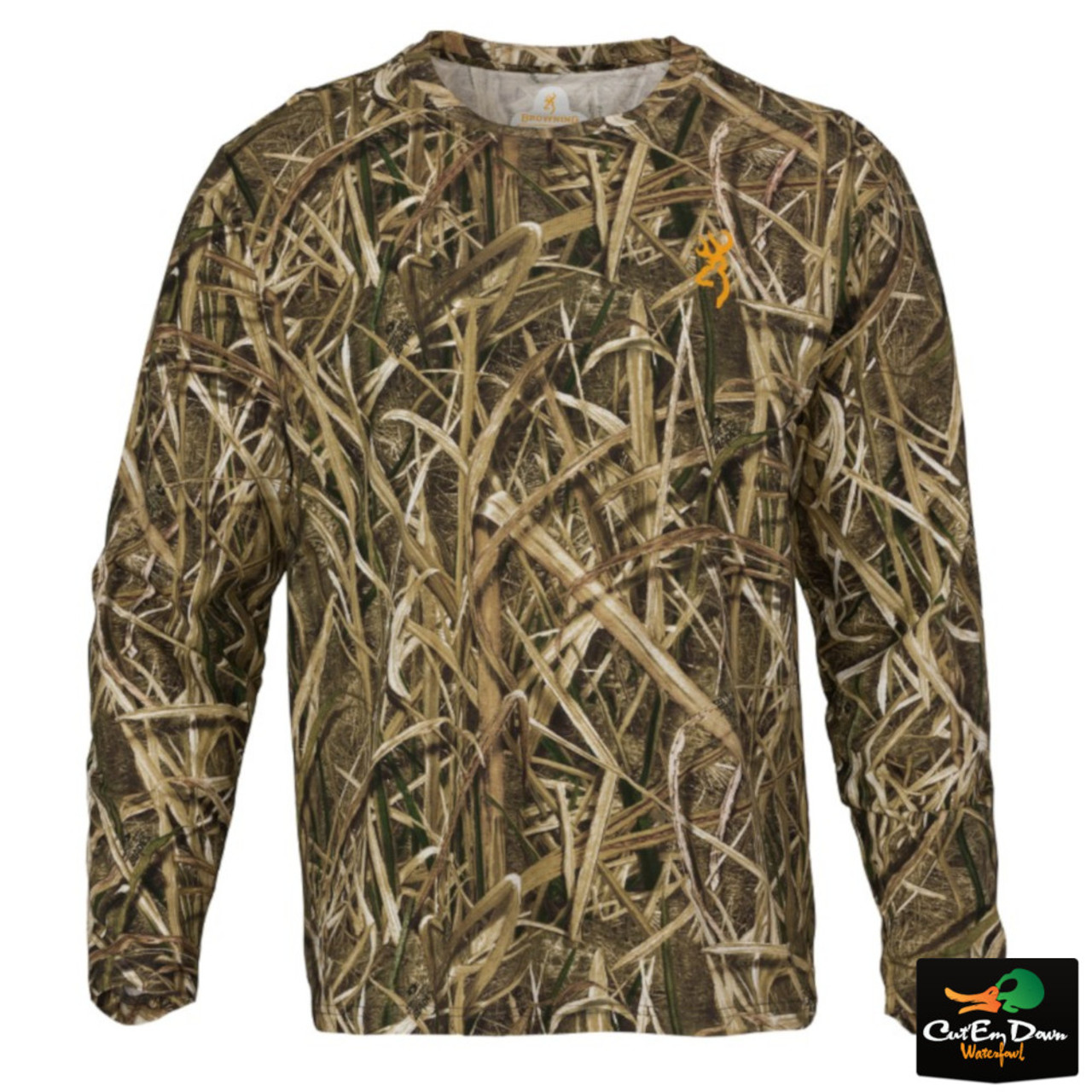 New 1 4 Browning Wasatch Bialy Cb Long Sleeve T Shirt Mossy Oak