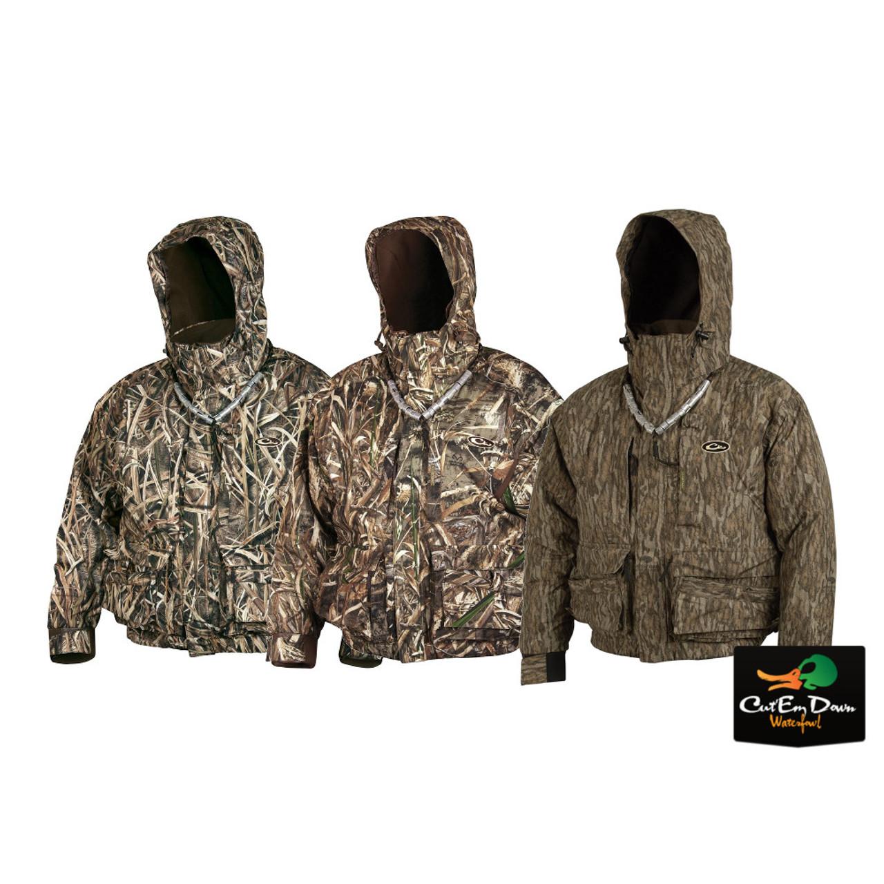 Drake Waterfowl Mens Camo Breathelite Quarter-Zip Jacket