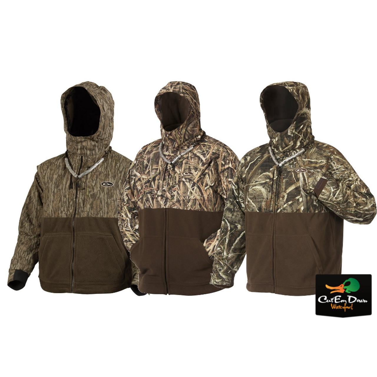 Drake LST Mens Heavyweight Eqwader Deluxe Full Zip Jacket Polyester