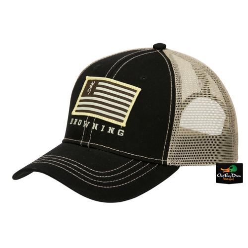 ... bozeman mesh back buckmark hunting trucker hat cap new 77df0 36ff3  canada browning patriot hat black tan 7328a 4f615 ... 6a94c975d5b5