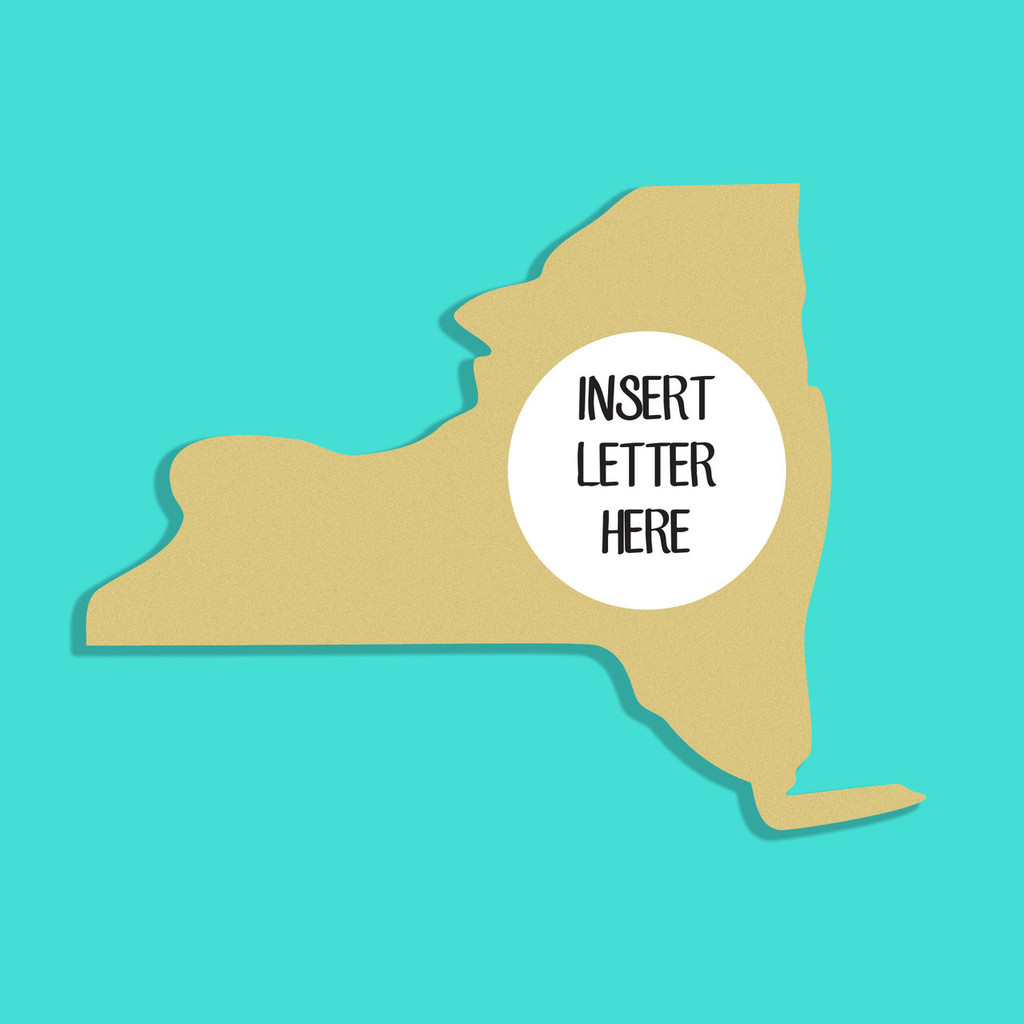 Unfinished Wooden New York Frame Letter Insert Monogram Wooden Craft ...