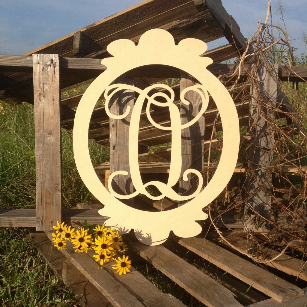 the letter q oval frame monogram letter wooden unfinished diy 25183