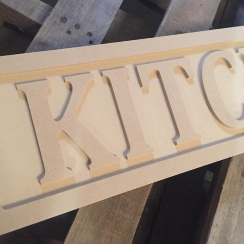 Engraved Wooden Sign 8'' x 31''Kitchen