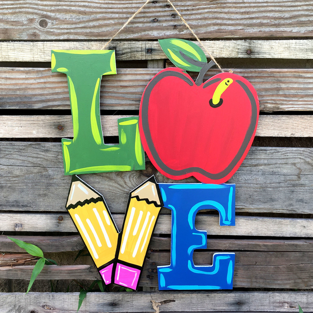 unfinished word love, diy, wooden cutout, customized letters