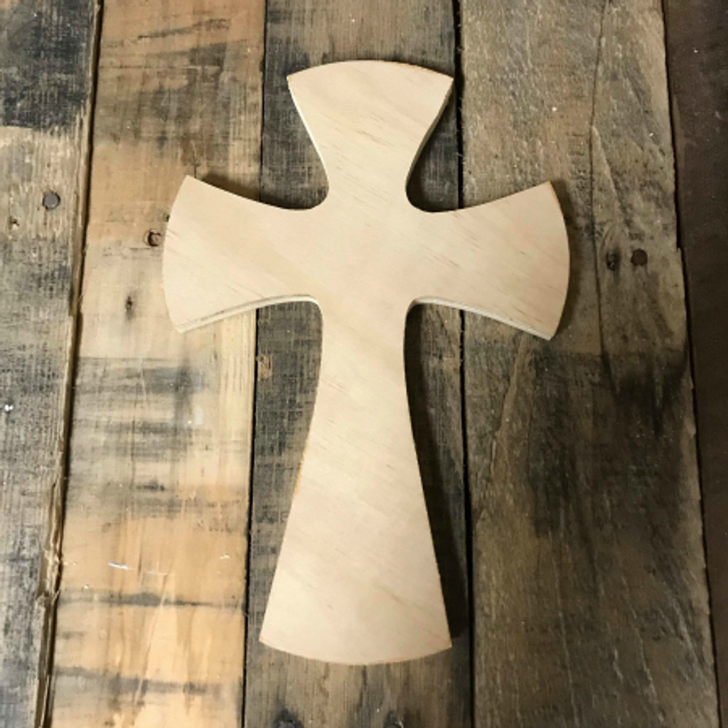 Unfinished Blank Paintable Wall Cross Large Wood Cross Cutout