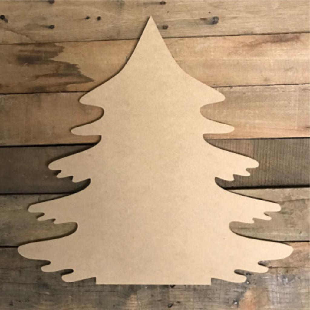 Christmas Tree, Paintable Shape, Unfinished Cutout, Craft Wood Shape