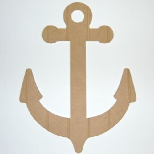 Wood Anchor Cutout Beadboard Shape Paintable MDF DIY Craft