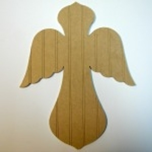 Unfinished Wooden Cross 19 Beadboard  Paintable Wall Hang Stackable