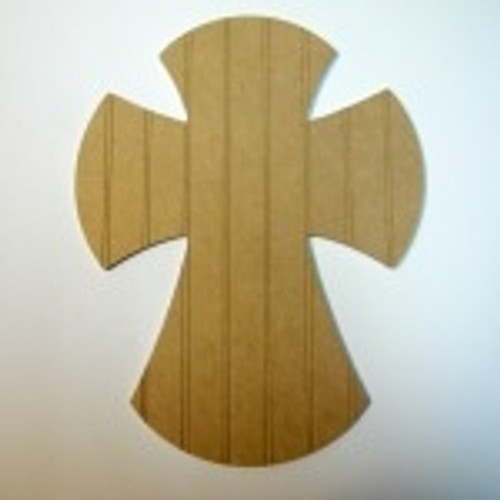 Unfinished Wooden Cross 24 Beadboard  Paintable Wall Hanging