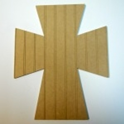Unfinished Wooden Cross 45 Beadboard  Paintable Wall Hanging Stackable