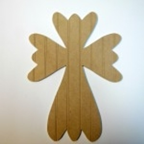 Unfinished Wooden Cross 51 Beadboard Paintable Wall Hanging Stackable